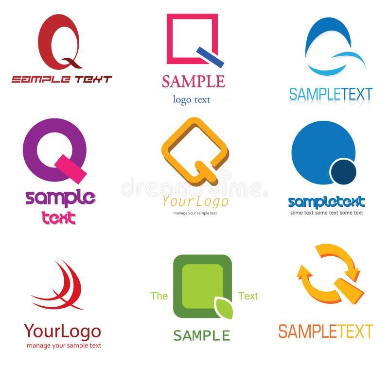 логос q письма иллюстрация вектора