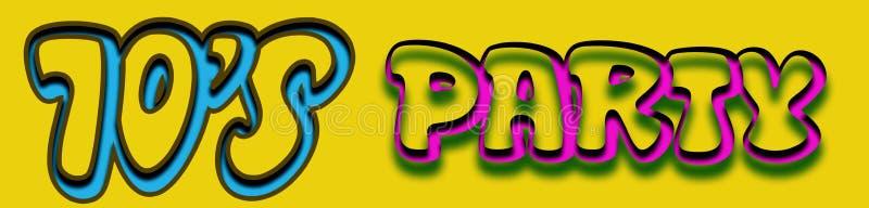 логос s 70 диско иллюстрация вектора
