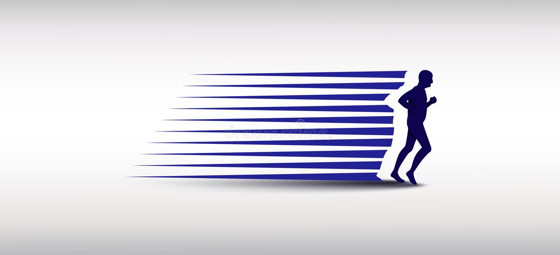 Логотипа дизайнов, марафона логотипа силуэта старшего человека шаблон идущего, идущий клуб или спортклуб бесплатная иллюстрация
