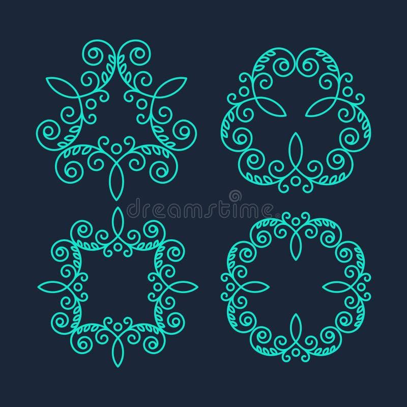 Логотипы вензеля Винтажные концепции вектора бесплатная иллюстрация