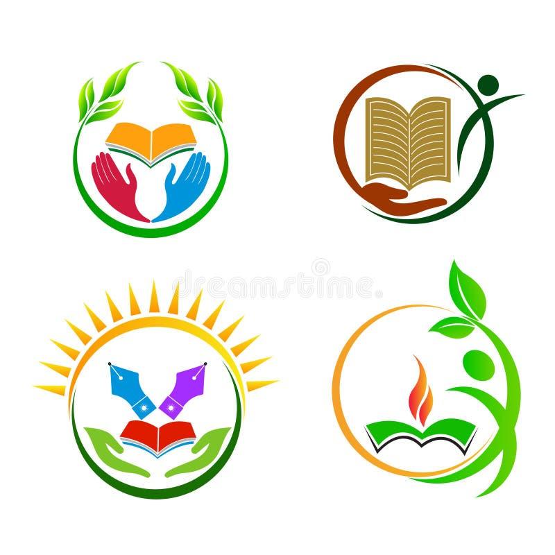 Логотипы заботы образования иллюстрация штока