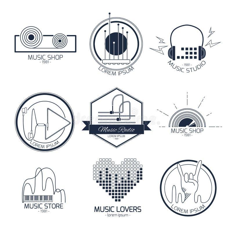 Логотипы и знаки музыки бесплатная иллюстрация