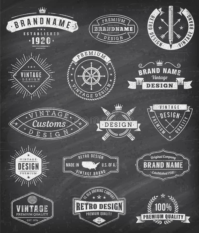 Логотипы и insignas grunge вектора винтажные иллюстрация вектора
