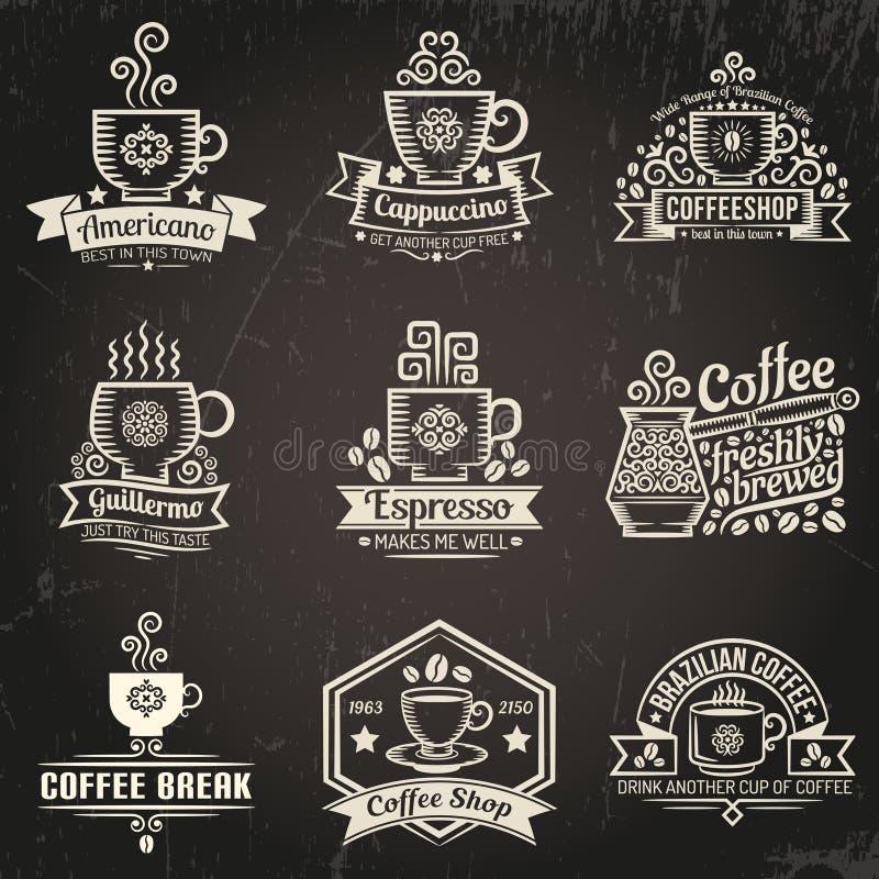 Логотипы кофе иллюстрация штока