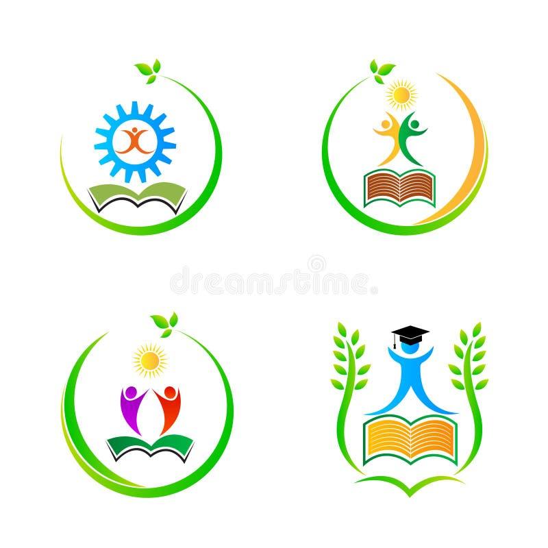 Логотипы образования иллюстрация штока