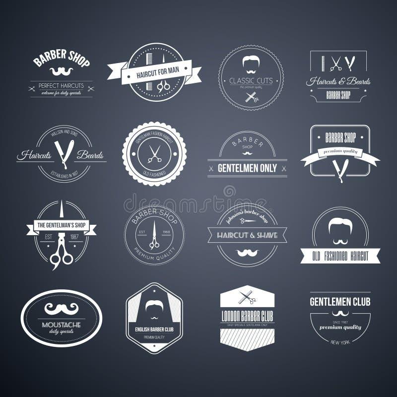 Логотипы парикмахера стоковая фотография
