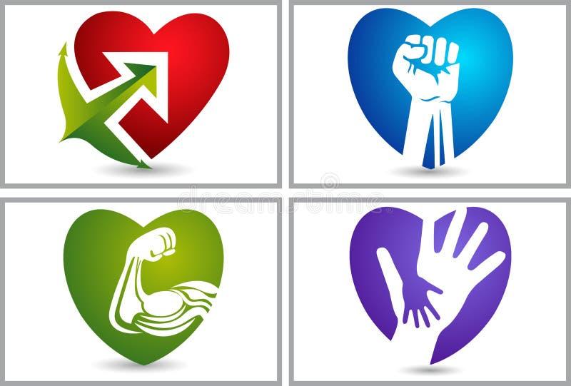 Логотипы собрания сильной влюбленности установленные иллюстрация вектора