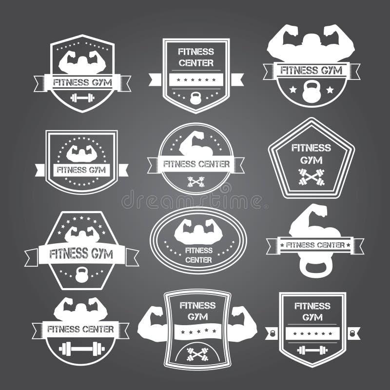 Логотипы спортзала культуризма и фитнеса и эмблемы в стиле t