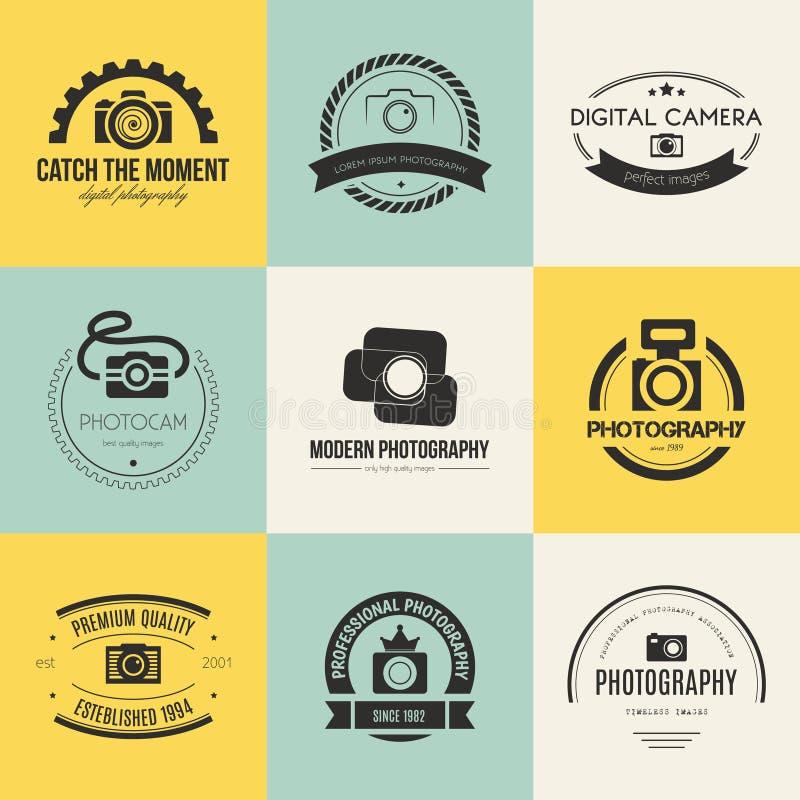 Логотипы фотографии стоковые изображения