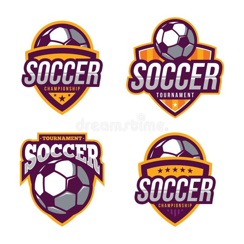 Логотипы футбола, американский спорт логотипа иллюстрация вектора