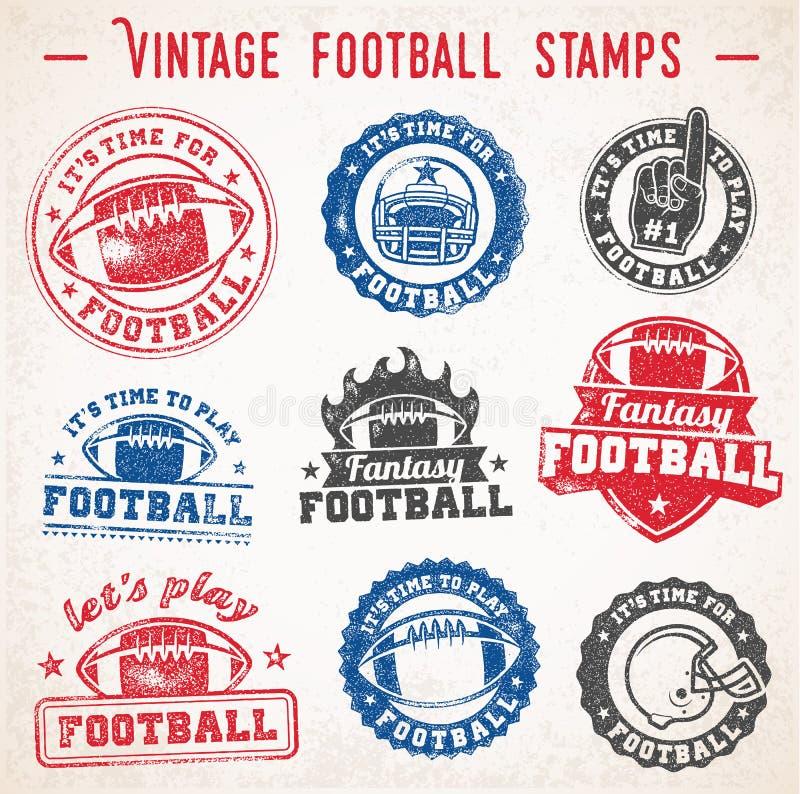 Логотипы футбола вектора Grunge бесплатная иллюстрация