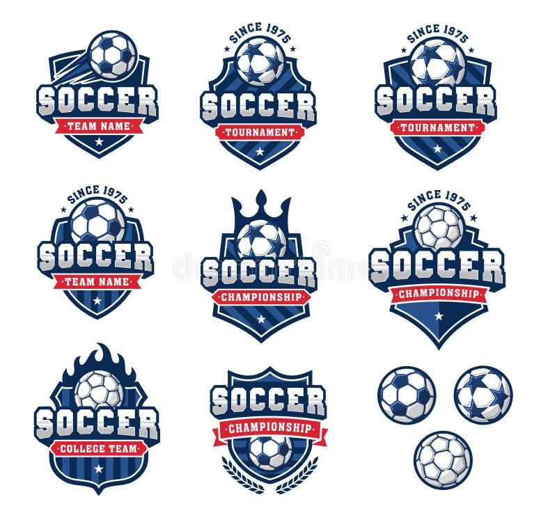 Логотипы футбола или футбола вектора установили 2 бесплатная иллюстрация