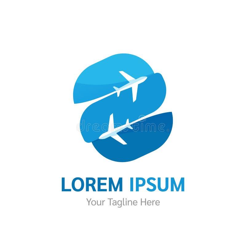 Логотип авиакомпании вектора Турагентство, приложение туризма, логотип полета Икона самолета бесплатная иллюстрация