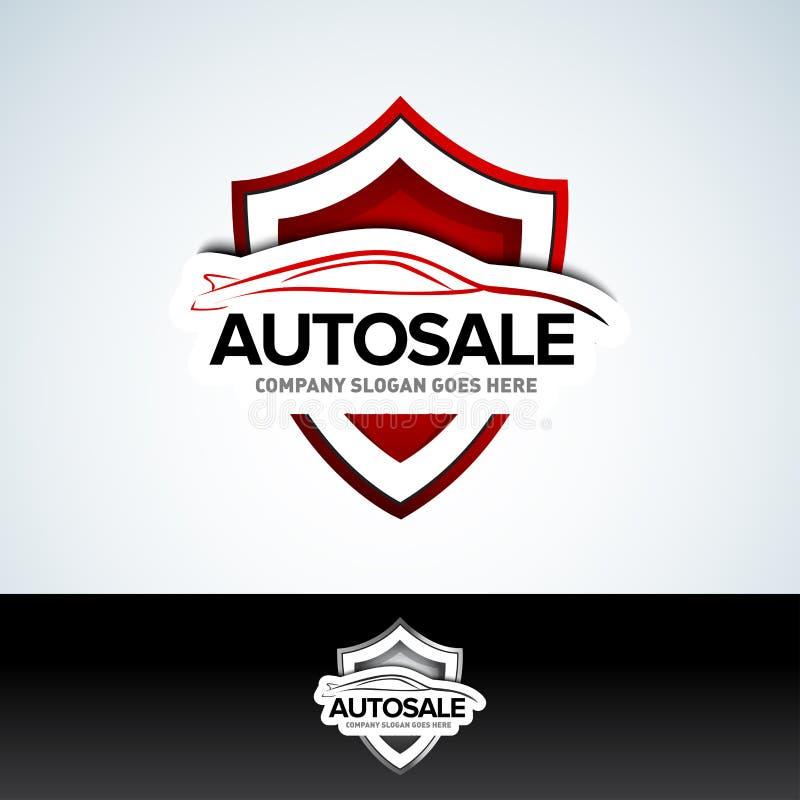 """Логотип автомобиля """"Autosale """"- обслуживание автомобиля и ремонт, вектор стоковое изображение"""