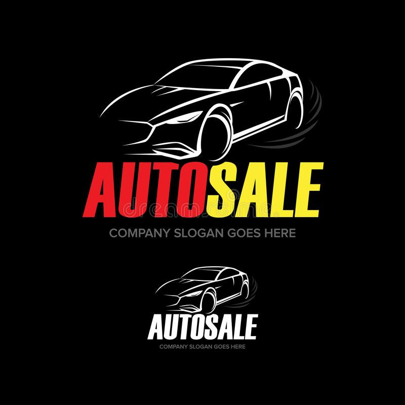 """Логотип автомобиля """"Autosale """"- обслуживание автомобиля и ремонт, вектор стоковое фото rf"""