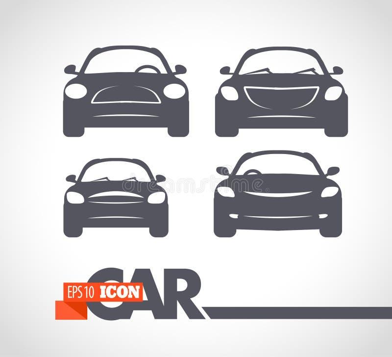 Логотип автомобиля вектора плоско простой minimalistic иллюстрация штока