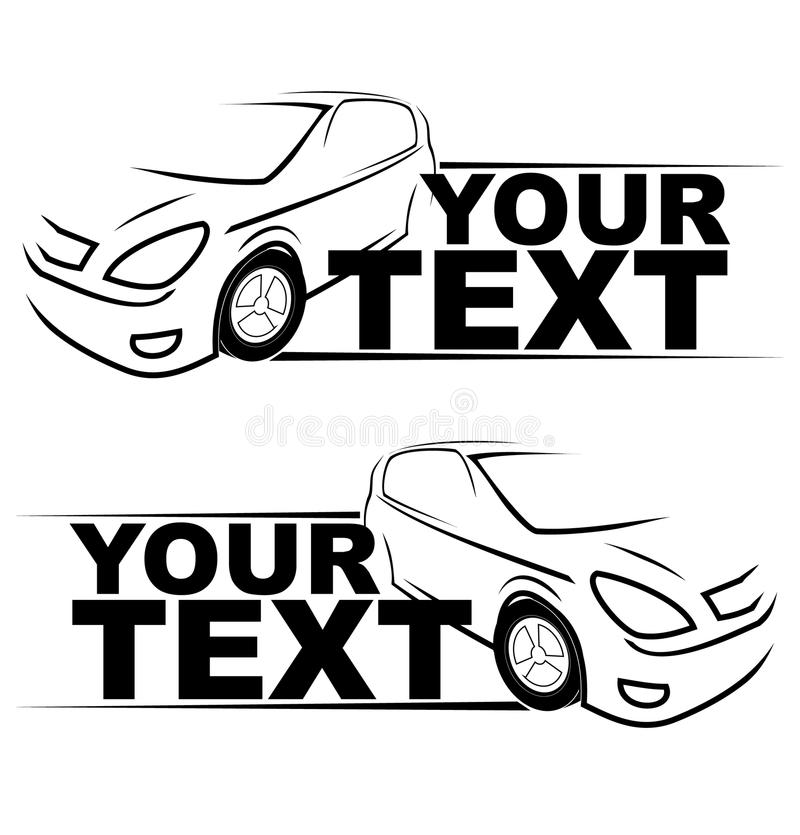 Логотип автомобиля гонок автомобиля бесплатная иллюстрация