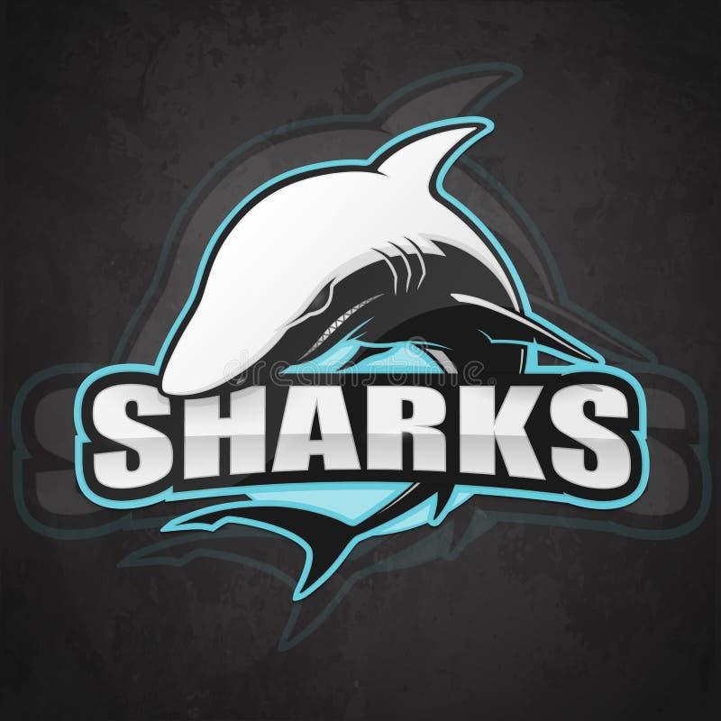 Логотип акулы для команды спорта бесплатная иллюстрация
