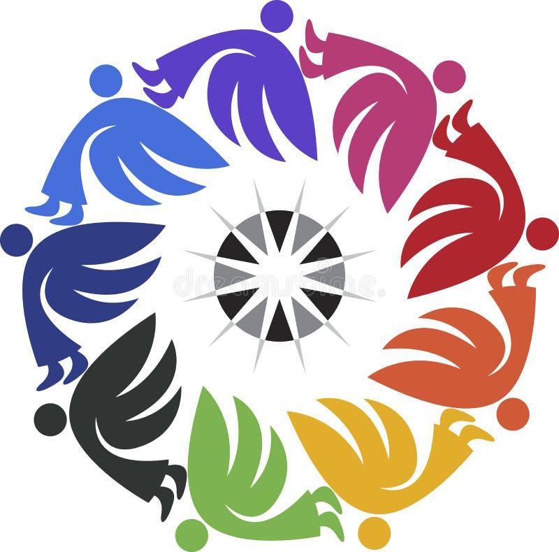 Логотип Анджела круглый иллюстрация штока