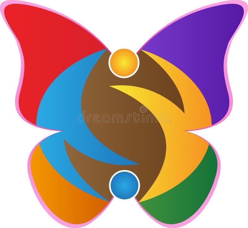 Логотип бабочки иллюстрация штока
