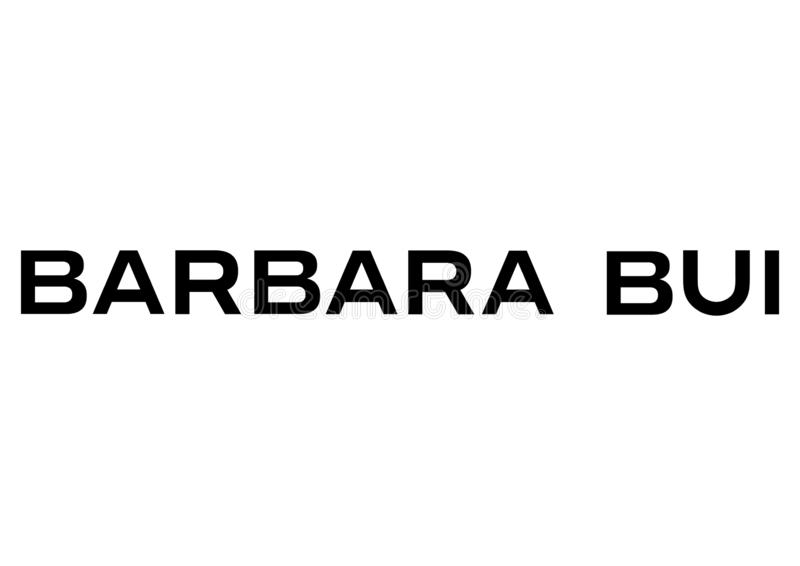 Логотип Барбара Bui иллюстрация вектора