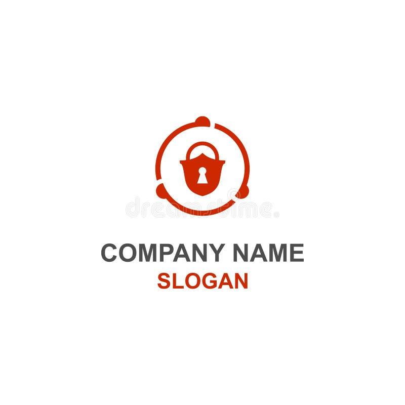 Логотип безопасностью Padlock иллюстрация вектора