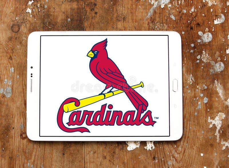 Логотип бейсбольной команды кардиналов Сент-Луис стоковое изображение
