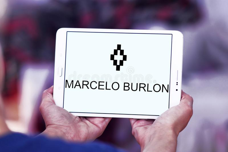 Логотип бренда моды Marcelo Burlon стоковая фотография