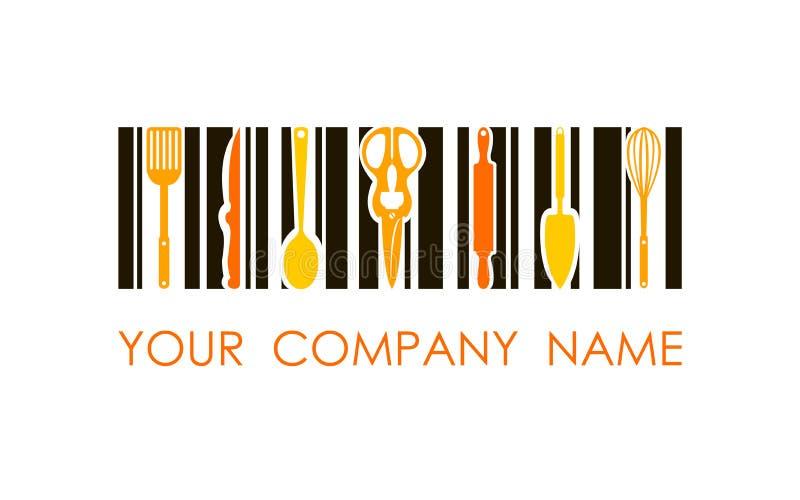 Логотип вектора варить продукты Логотип дизайна концепции Использованный для кулинарии, магазин, хлебопекарня, гастроном стоковая фотография rf