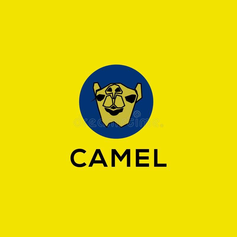 Логотип вектора верблюда Одичалая эмблема верблюда иллюстрация штока