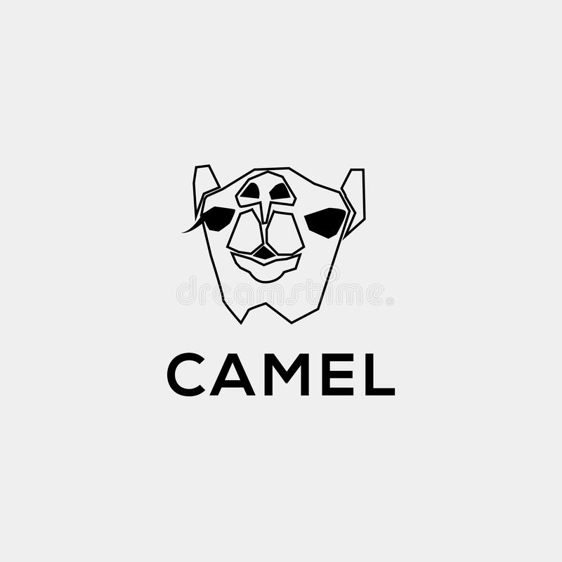 Логотип вектора верблюда Одичалая эмблема верблюда бесплатная иллюстрация