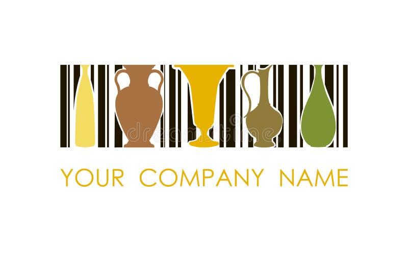 Логотип вектора для керамической мастерской Логотип дизайна концепции стоковое фото