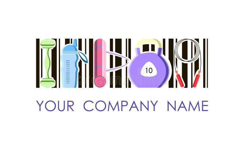 Логотип вектора для компании и фитнес-клуба спорта стоковые изображения rf