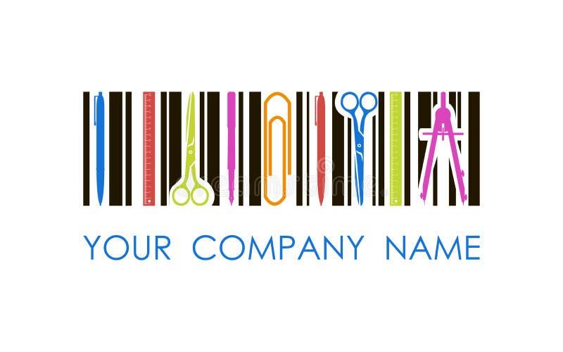Логотип вектора для магазина или компании канцелярских принадлежностей стоковое фото rf