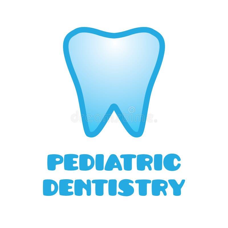 Логотип вектора для педиатрического зубоврачевания, зубоврачевания для детей бесплатная иллюстрация