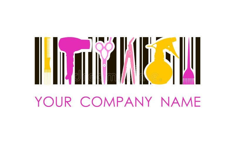 Логотип вектора для салона парикмахерских услуг Логотип дизайна концепции стоковая фотография