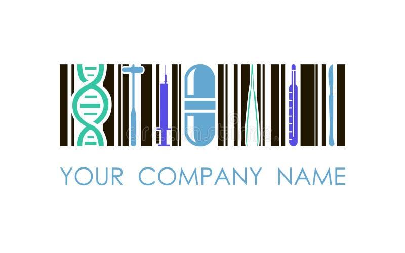 Логотип вектора для фармации медицины Использованный для медицинского центра, клиника, фармакологическая фирма Логотип дизайна ко стоковая фотография