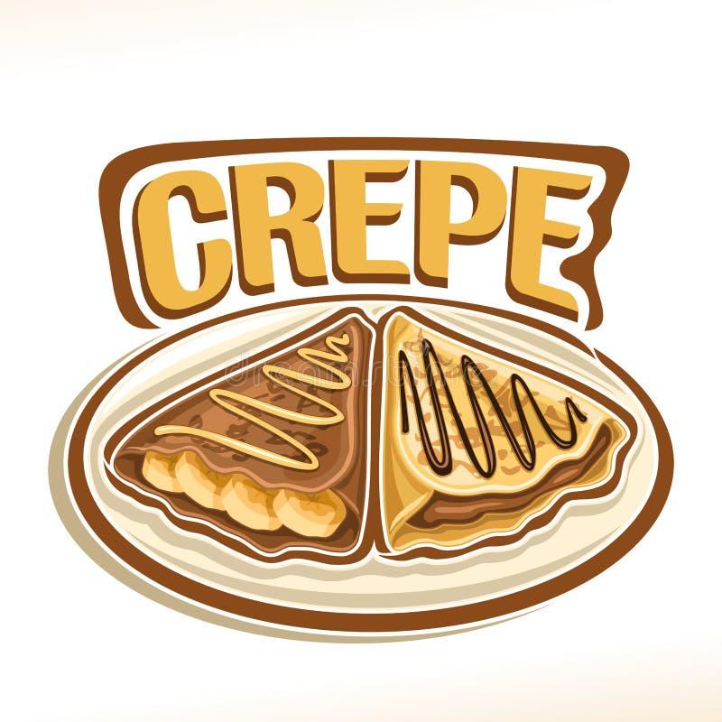 Логотип вектора для Crepe француза бесплатная иллюстрация