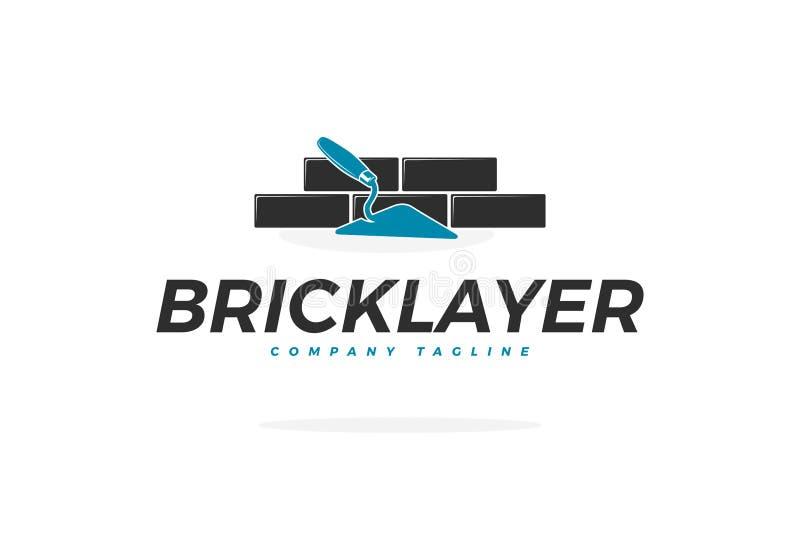 Логотип вектора каменщика с лопаткой бесплатная иллюстрация