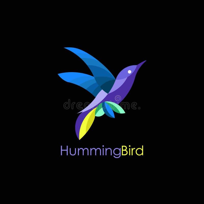 Логотип вектора колибри стоковое фото rf