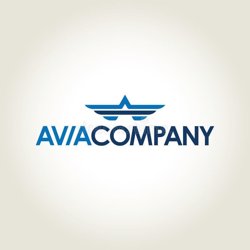 Логотип вектора компании Avia иллюстрация штока