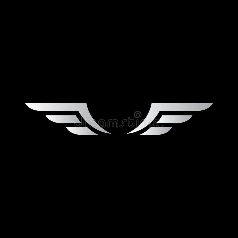 Логотип вектора крыльев Подгоняет значок, значок, эмблему иллюстрация вектора