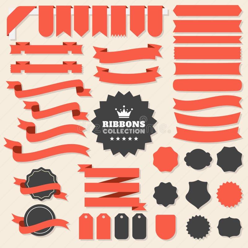 Логотип вектора ленты винтажный для знамени стоковые фото