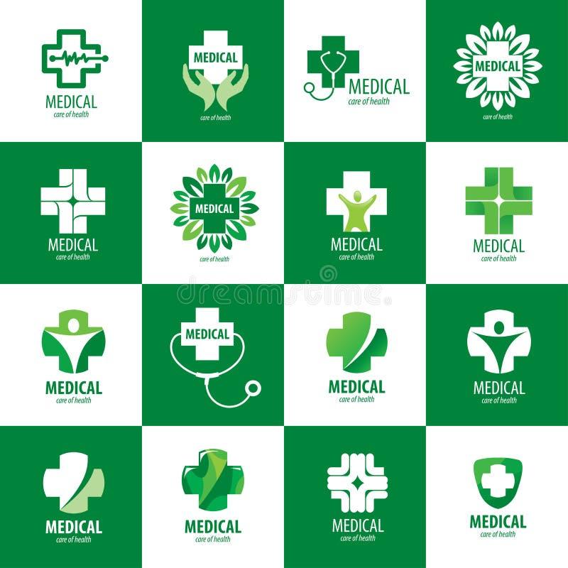 Логотип вектора медицинский иллюстрация штока
