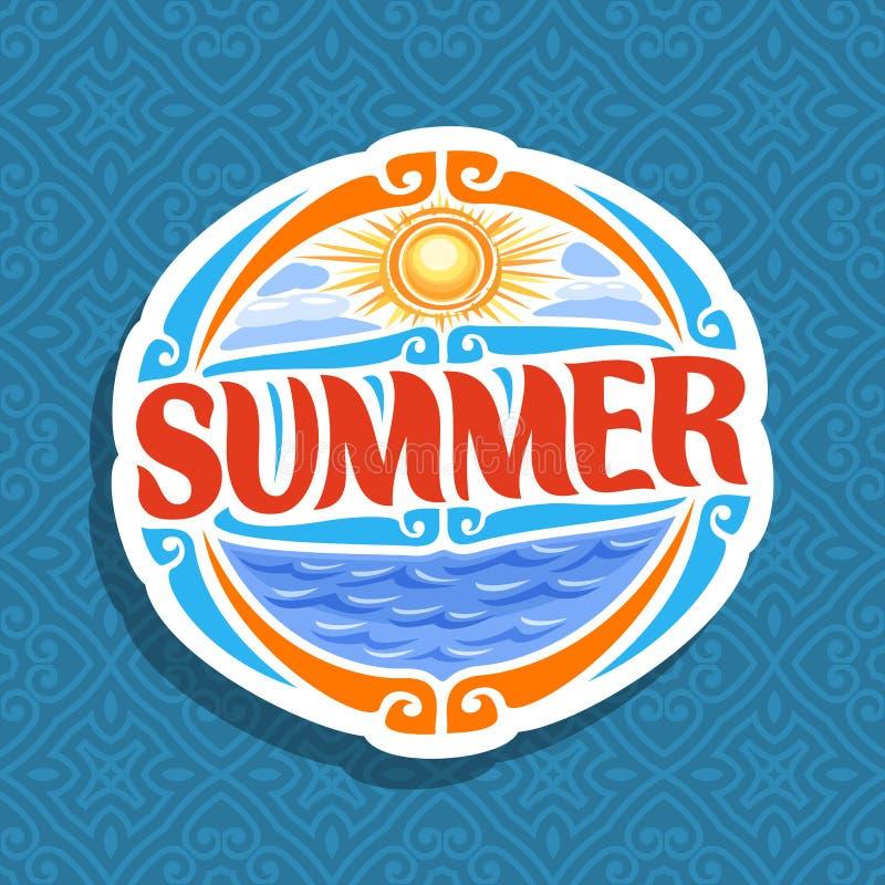 Логотип вектора на сезон лета бесплатная иллюстрация