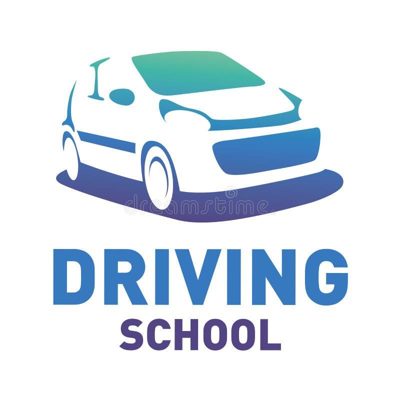 Логотип вектора на теме управляя школы, автомобиля иллюстрация вектора