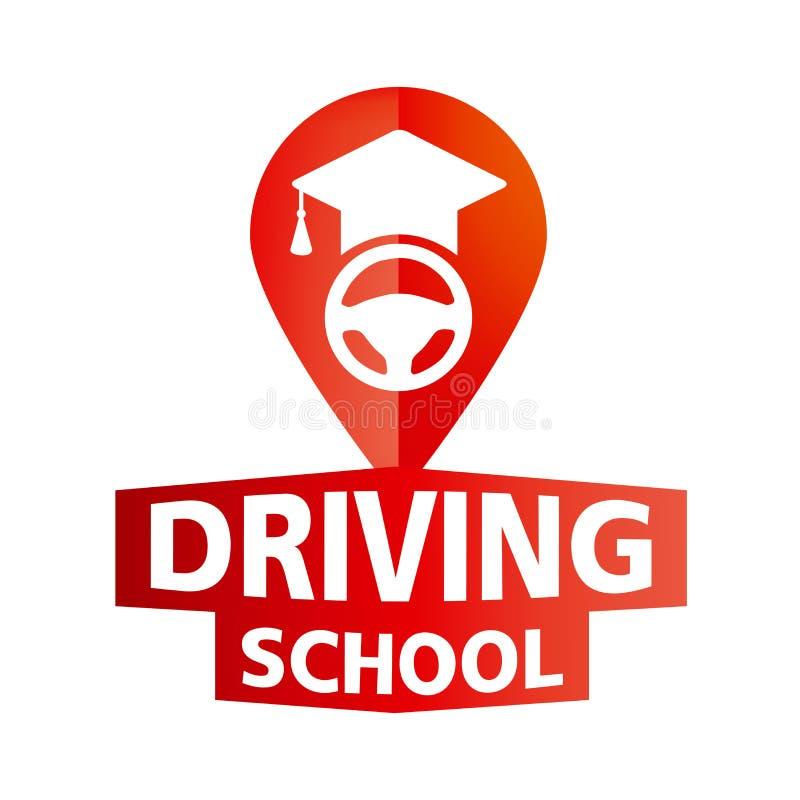 Логотип вектора на теме управляя школы, автомобиля иллюстрация штока
