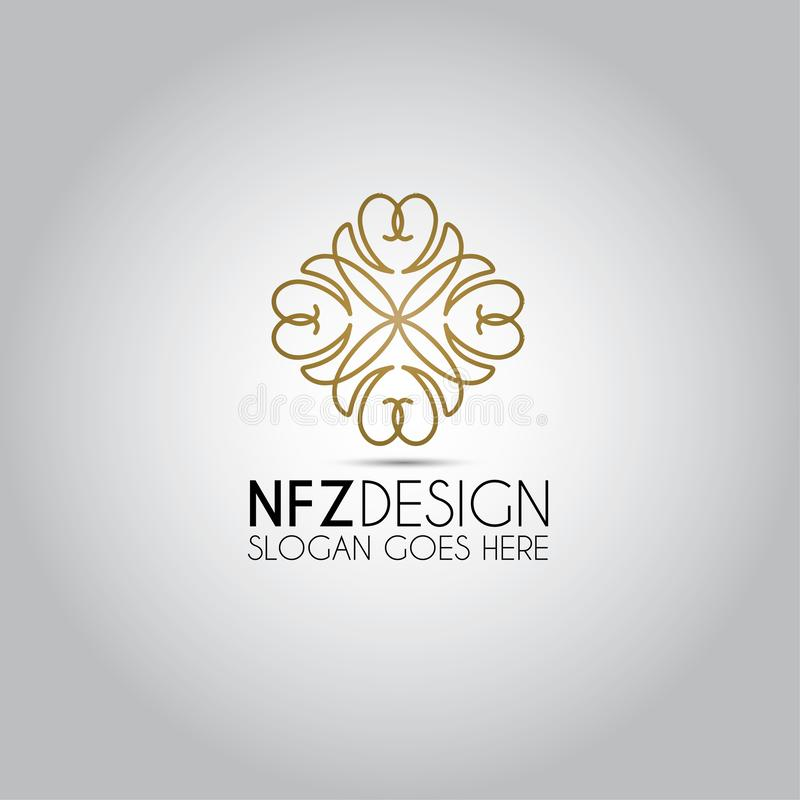 Логотип вектора орнамента мандалы иллюстрация штока