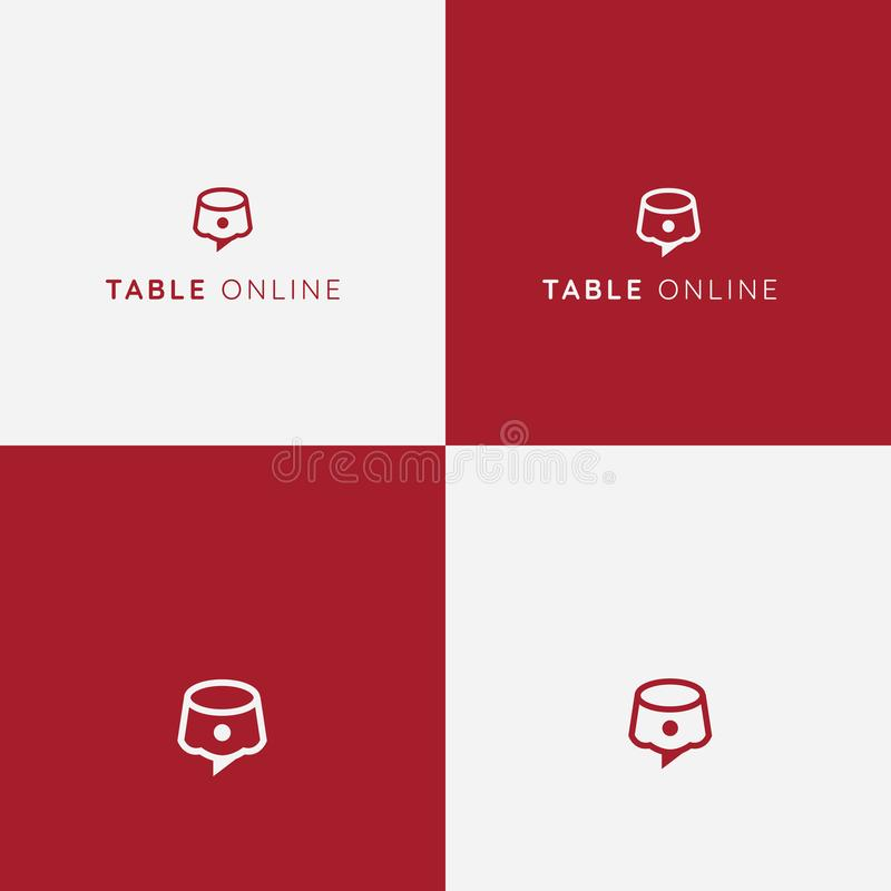 Логотип вектора резервирования таблицы обвалите в сухарях вызвано режущ ресторан фото mrcajevci мяса логоса kupusijada еды праздн иллюстрация штока