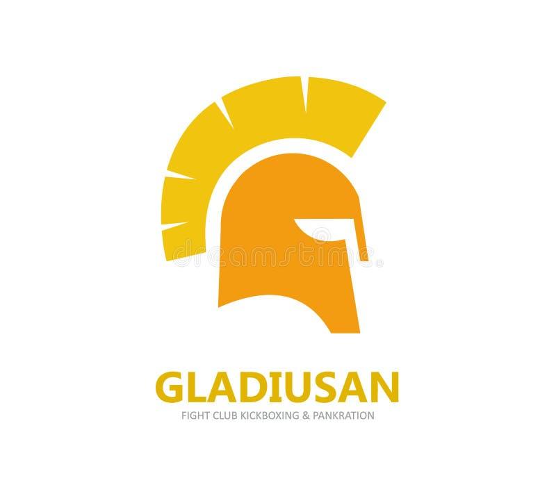 Логотип вектора шлема или значок символа иллюстрация вектора